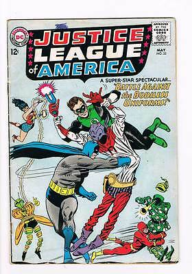 Justice League of America # 35 Mindless Uniforms ! grade 3.0 scarce book !!