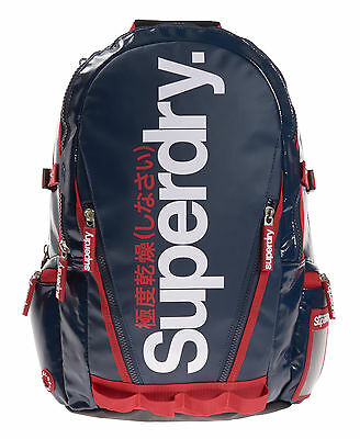 New Unisex Superdry Shine Tarp Backpack Navy