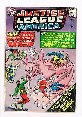 Justice League of America # 37 Earth - Without a JL ! grade 2.5 scarce book !!