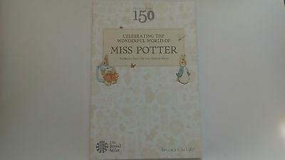 BEATRIX POTTER 50p MISS POTTER ROYAL MINT COIN COLLECTOR ALBUM BRAND NEW