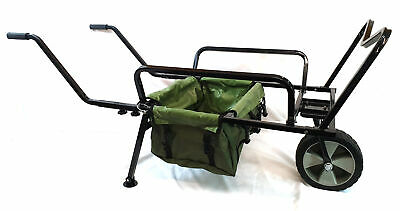 Bison Heavy Duty Fishing One Wheel Barrow With Barrow Bag Fishing Trolley