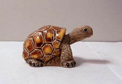 Coad Peru Yellow Brown Tortoise Turtle Figurine Glaze Ceramic