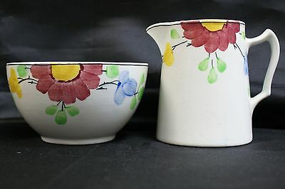 Vintage BCM Nelson Ware Hand Painted Jug & Bowl Set