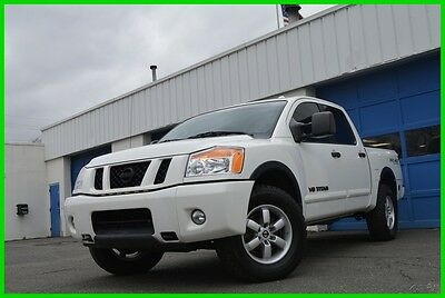 2012 Nissan Titan PRO-4X Crew cab 4X4 4WD 5.6L V8 Loaded Save Big Full Power Options Rear Parking Sensors Power Pedals Cruise Spray In Bed Liner +