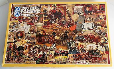 Vintage Schmid 1000 Pce Puzzle TO THE RESCUE Firemen Brigade Fire Fighters USA