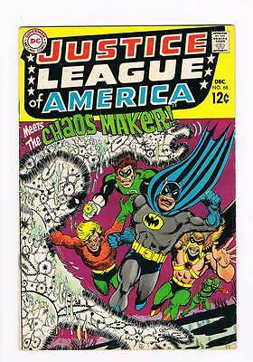 Justice League of America # 68 Neverwas...the Chaos-Maker ! grade 6.0 scarce !!