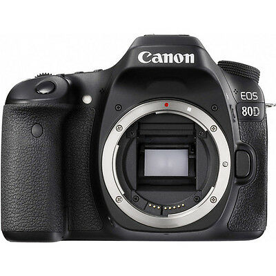 Brand New Canon EOS 80D Body Only Digital SLR Camera - Black Free shipping