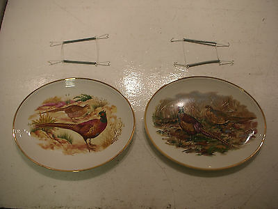 Liverpool Road Pottery Plates Pheasants X 2 USED Good Condition
