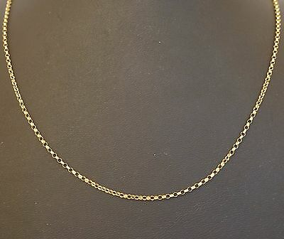 "9Carat Yellow Gold 19.75"" Belcher Chain / Necklace (1mm Width)"