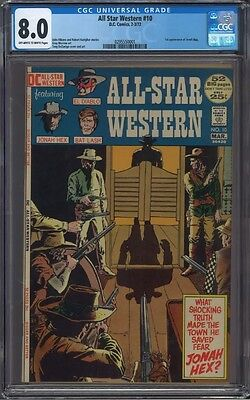 All Star Western #10 CGC 8.0 Off White to White Pages 1st Jonah Hex