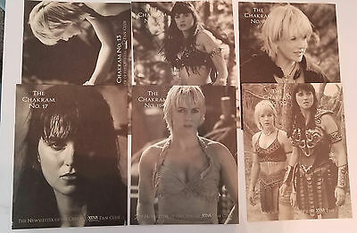 Chakram   #13 - #15, #17, #19 The Newsletter of the Offical Xena Fan club Issues