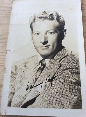 Postcard sized photo of Danny Kaye with printed signature