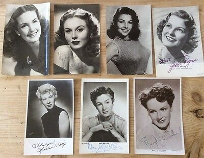 Collection of 1950's Actresses photos with signatures