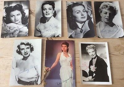 Collection of 1950's famous Actress photos with printed signatures