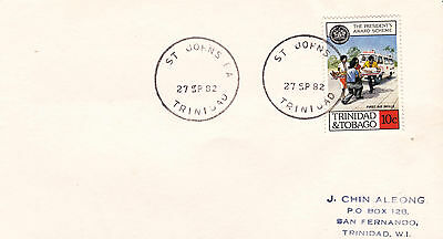 Envelope with a nice skeleton postmark - St Johns PA Trinidad 1982