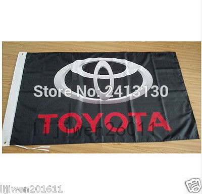 hot car racing flag banner flags 3x5FT free shipping for Toyota Flag black  p