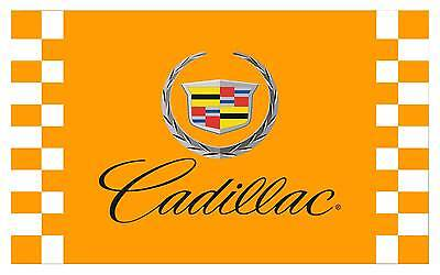 2017 car racing flag banner flags yellow 3x5FT free shipping for Cadillac flag p
