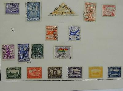 Bolivia Stamps 1939-1951 Hinged,