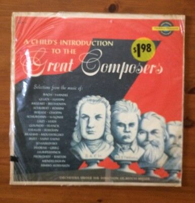 A Child's Introduction To The Great Composers, Sealed,1956, Mitch Miller