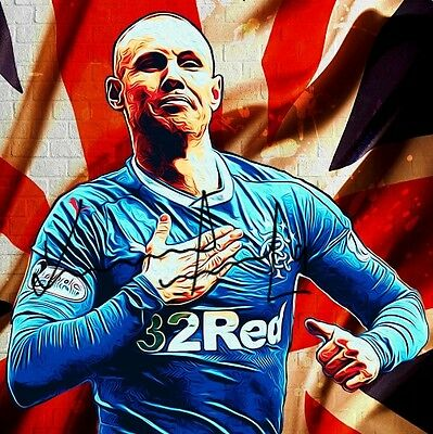 Kenny Miller  Glasgow Rangers fc   Signed Photo   Pre-Print Size A4