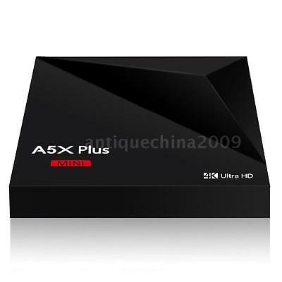 A5X Plus MINI Android 7.1 Smart TV Box Quad Core USB3.0 H.265 4K Media DLNA Y4J8
