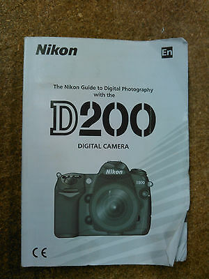 Nikon Genuine D200 Camera Instruction Book / Manual / User Guide/ ENGLISH