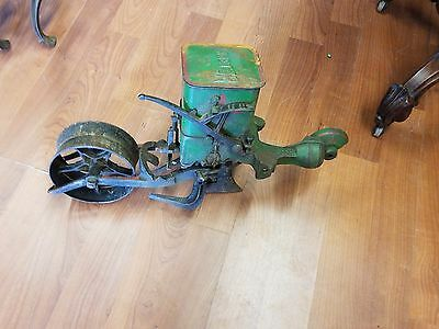 Antique Planet Jr~ Seed Spreader & 4 Plow Attachments~ Circa 1900