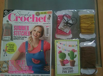 Simply Crochet Craft Magazine Issue 59 July 2017 + FREE Gift Kit *NEW*