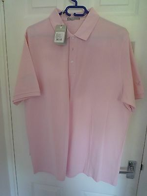 Brand New Mens Golf Polo Shirt Pale Pink Size XL