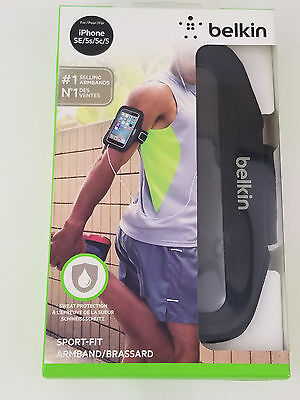 Belkin Sport-Fit #1 Armband for iPhone 5 / 5S / 5c / SE Black F8W367btC00