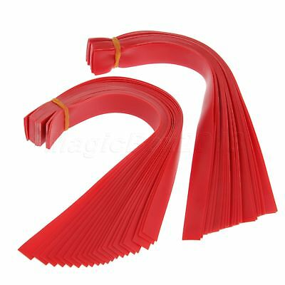 10Pcs Red Natural Latex Slingshots Flat Rubber Band Catapult Replace Accessory