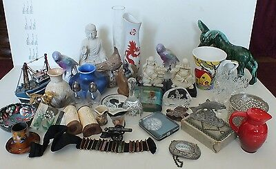 Large Job Lot Mixed Items , China Glass Metal Etc Vintage Plus Oriental Etc