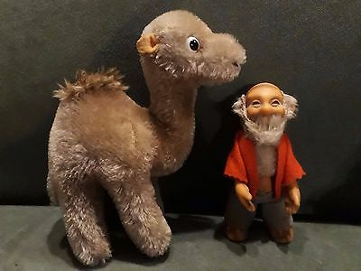 Two Vintage German Soft Toys Camel and Dwarf incl. Steiff