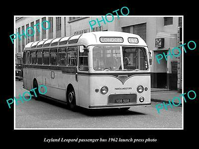 Old Large Historic Photo Of 1962 Leyland Leopard Bus Launch Press Photo 2