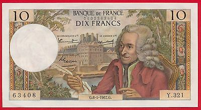 10 Francs - Voltaire - 6-4-1967 - NEUF