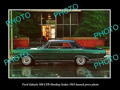 Old Large Historic Photo Of Ford Galaxie 500 Ltd Sedan 1965 Launch Press Photo