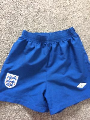 Boys England Football Blue  Shorts Age 6-7 Years