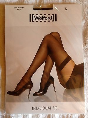 """PAIRE de BAS STAY-UP  """"WOLFORD"""" VOILE NOIR- T.S NEUF"""