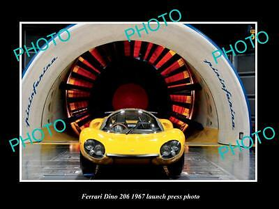 Old Large Historic Photo Of Ferrari Dino 206 1967 Launch Press Photo 2