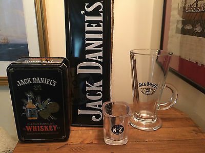 Jack Daniels Old No.7 Brand Whisky Glasses Tins Collection Fathers Day Gift
