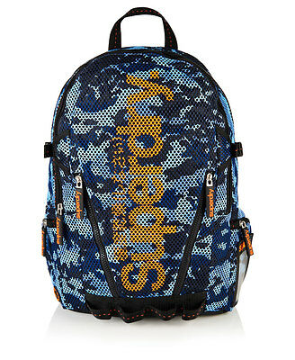 New Mens Superdry Camo Mesh Backpack Blue
