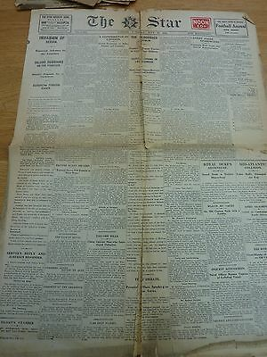 1914 July 28 The Star Newspaper Bloodshed In Dublin Original 4  Page