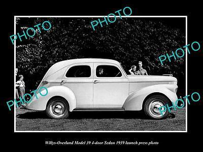 Old Large Historic Photo Of 1939 Willys Overland 39 4 Door Launch Press Photo