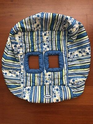 Boppy Protect Me Shopping Cart And High Chair Cover Blue Green White