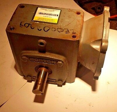 Boston Gear F721-20-B5-6 Right Angle Gear Reducer 20:1 Ratio, 56C Motor Mount