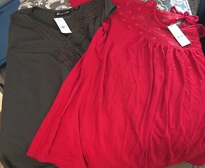 New York and Company blouses/tops/shirts NWT size Large Lot of 2