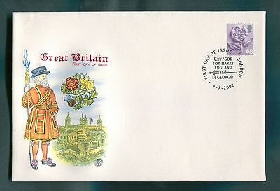 2002 Country Definitives : 4 x Single Stamp Covers