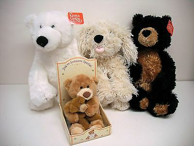 Gund Lot of Bears and Dog
