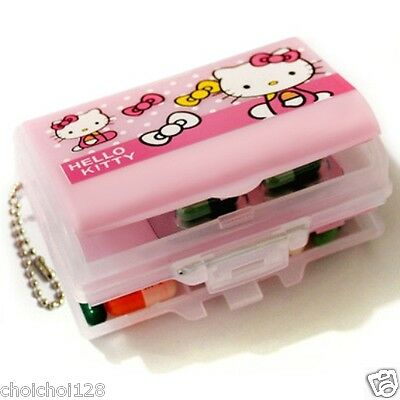 New Hello Kitty Pink Multifunctional Mini Storage Case Pill Box KK51