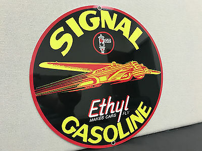 Signal Ethylgasoline racing vintage sign round